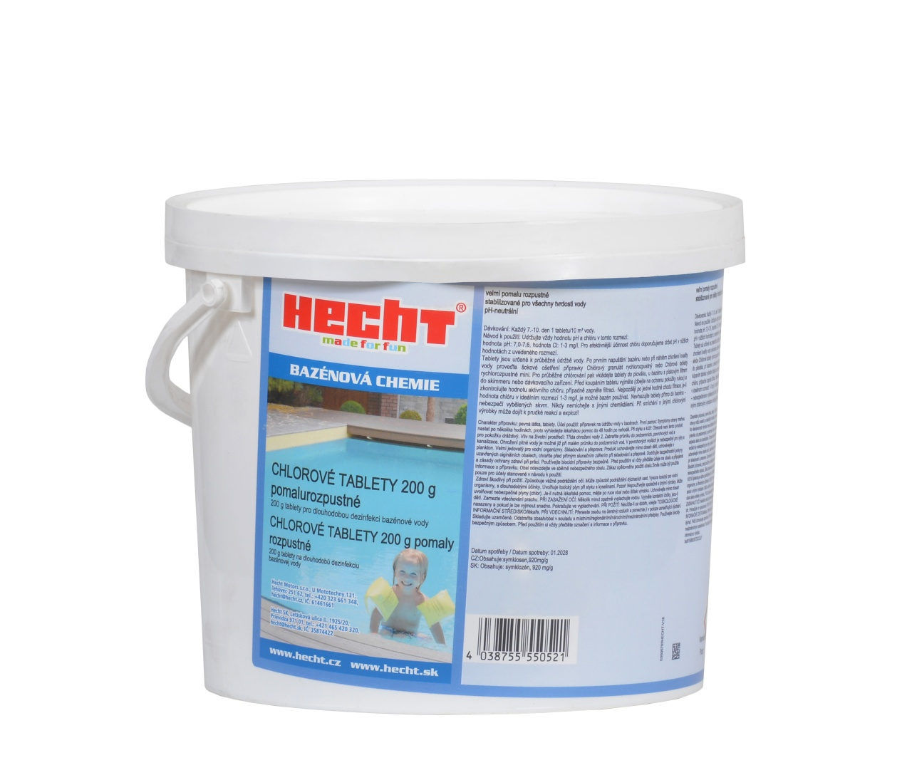 505603 - pomalurozpustné chlorové tablety