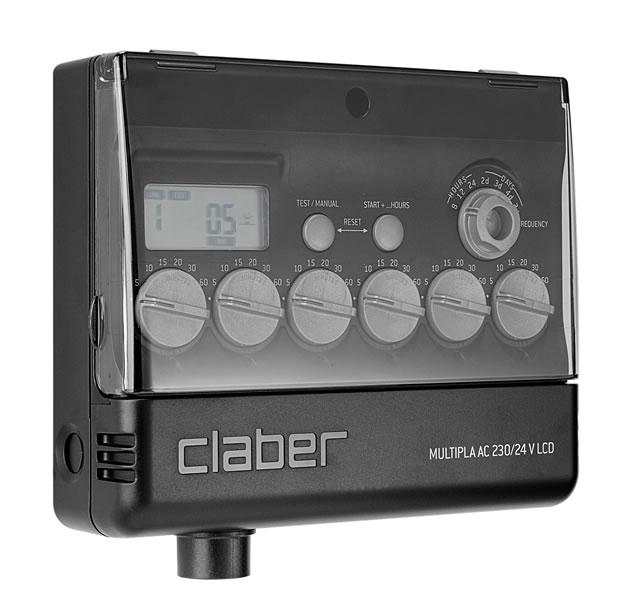 Claber 8058 - Multipla, 6 zónová řídící jednotka 220/24V, LCD