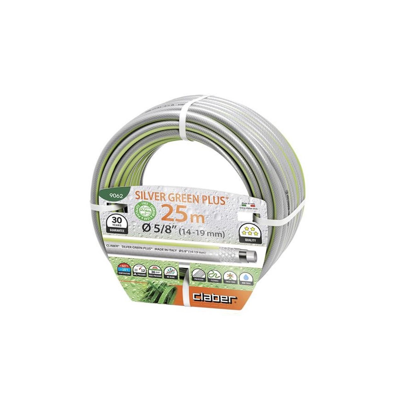 """Claber 9062 - zahradní hadice Silver green Plus 5/8"""" - 25m"""