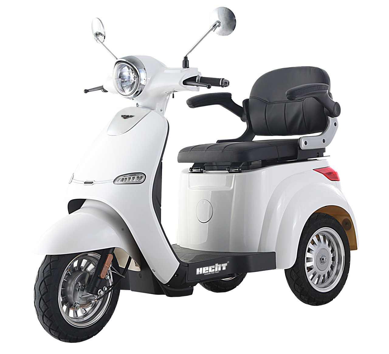 HECHT CITIS MAX - WHITE e-skútr - tříkolka