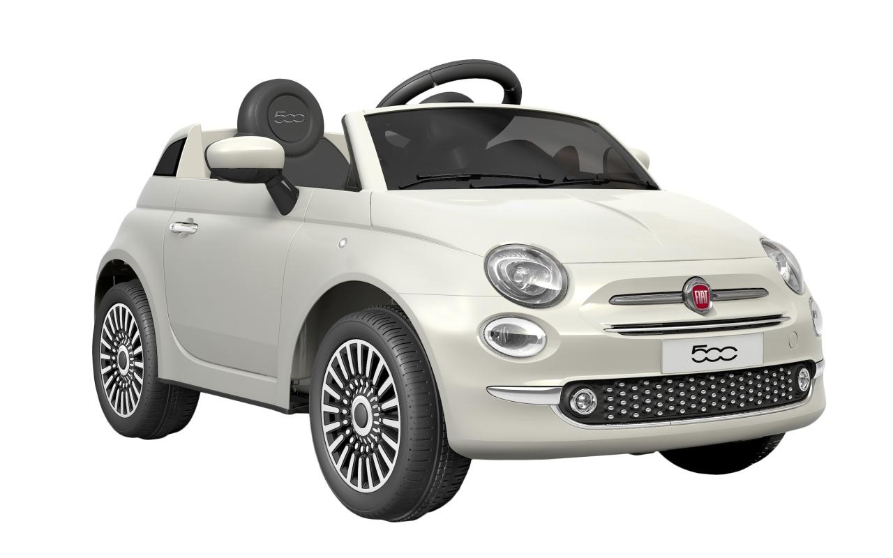 FIAT 500 - WHITE - akumulátorové autíčko - vozítko